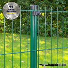 10m Mattenzaun-Komplett-Set EASY-B-EASY grün 103cm hoch