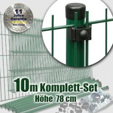 10m Mattenzaun-Komplett-Set EASY-B-EASY grün 78 cm hoch