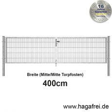 SECURA Doppelstab-Doppeltor 6-5-6 feuerverzinkt 4m Breite