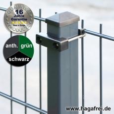 10m Doppelstabmattenzaun-Set SECURA Rechteckpfosten U-Bügel