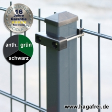 40m Doppelstabmattenzaun-Set SECURA Rechteckpfosten U-Bügel