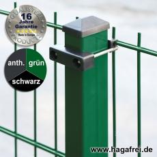100m Doppelstabmattenzaun-Set SECURA Rechteckpfosten U-Bügel