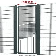 Industrie-Tor fvz. + pulverbeschichtet 1,50m Breite 1-flügelig