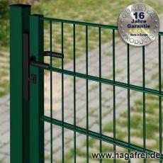 Industrie Doppelstab-Tor fvz. + grün pulverbeschichtet 1,5m Breite offener Rahmen