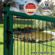 Gartentor EASY-B-EASY feuerverzinkt + grün 1,5m Breite