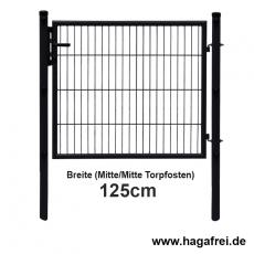 Doppelstab-Tor Simple fvz. + schwarz 1,25m Breite 1,25m Höhe