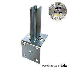 Standfuß-Winkel 100x100 fvz. für Rechteckpfosten