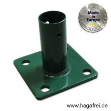 Standfuß grün für Pfosten Ø 34 + 42 mm