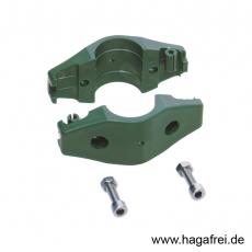 Doppelschelle Ø 34 mm grün oder schwarz