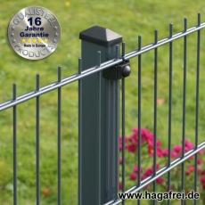 5-Sterne Premium Doppelstab-Zaunmatte EASY-B-EASY feuerverzinkt + pulverbeschichtet