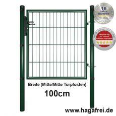 Gartentor EASY-B-EASY feuerverzinkt + grün 1m Breite