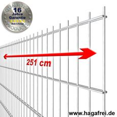 Industrie-Doppelstab-Zaunmatte 6-5-6 im Tauchbad feuerverzinkt