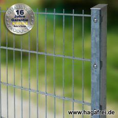 Industrie-Doppelstab-Zaunmatte 8-6-8 im Tauchbad feuerverzinkt